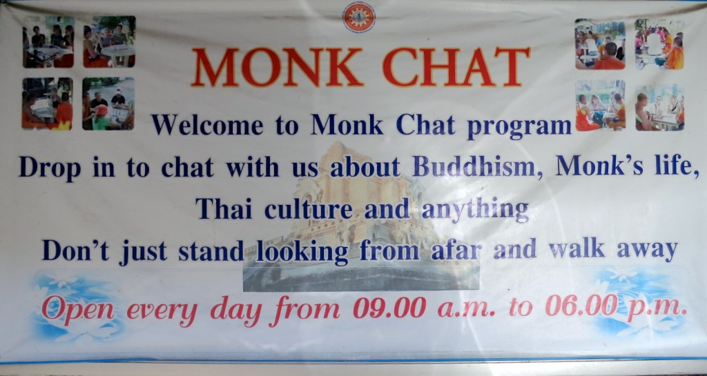 A poster for Monk Chat