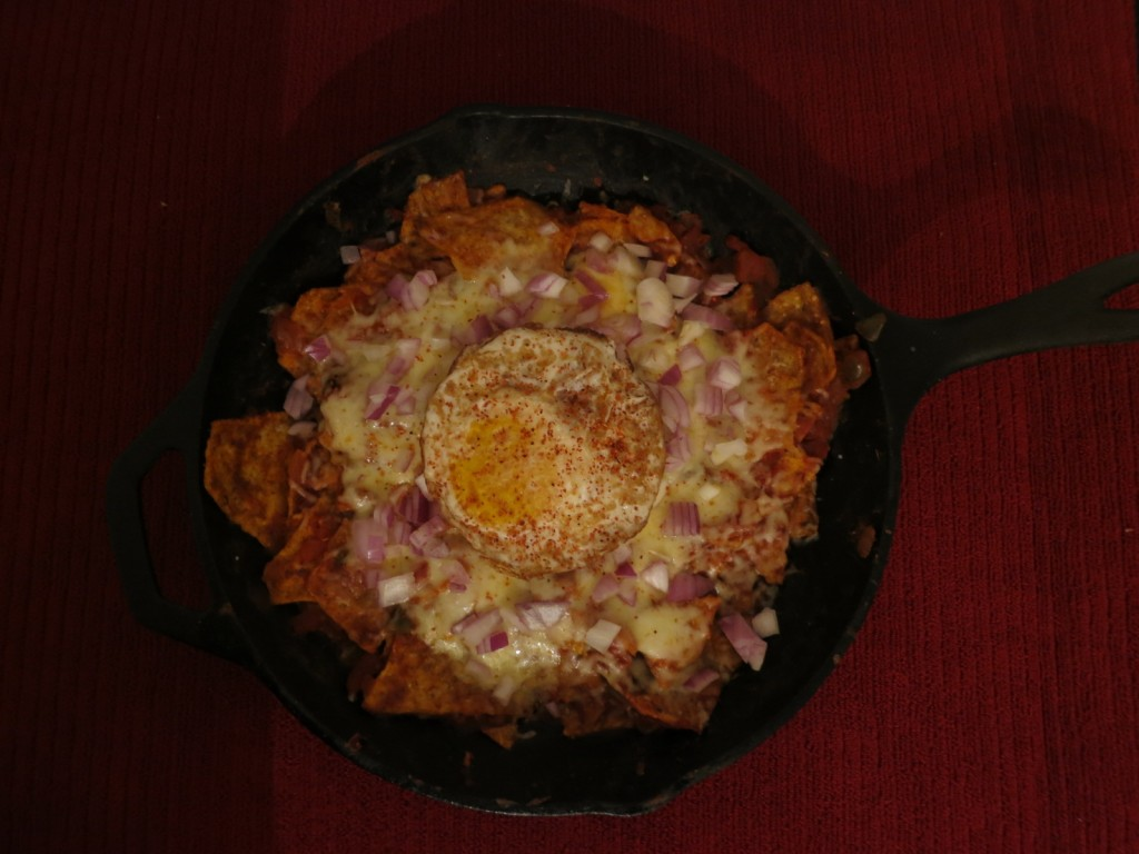Chilaquiles with fried egg