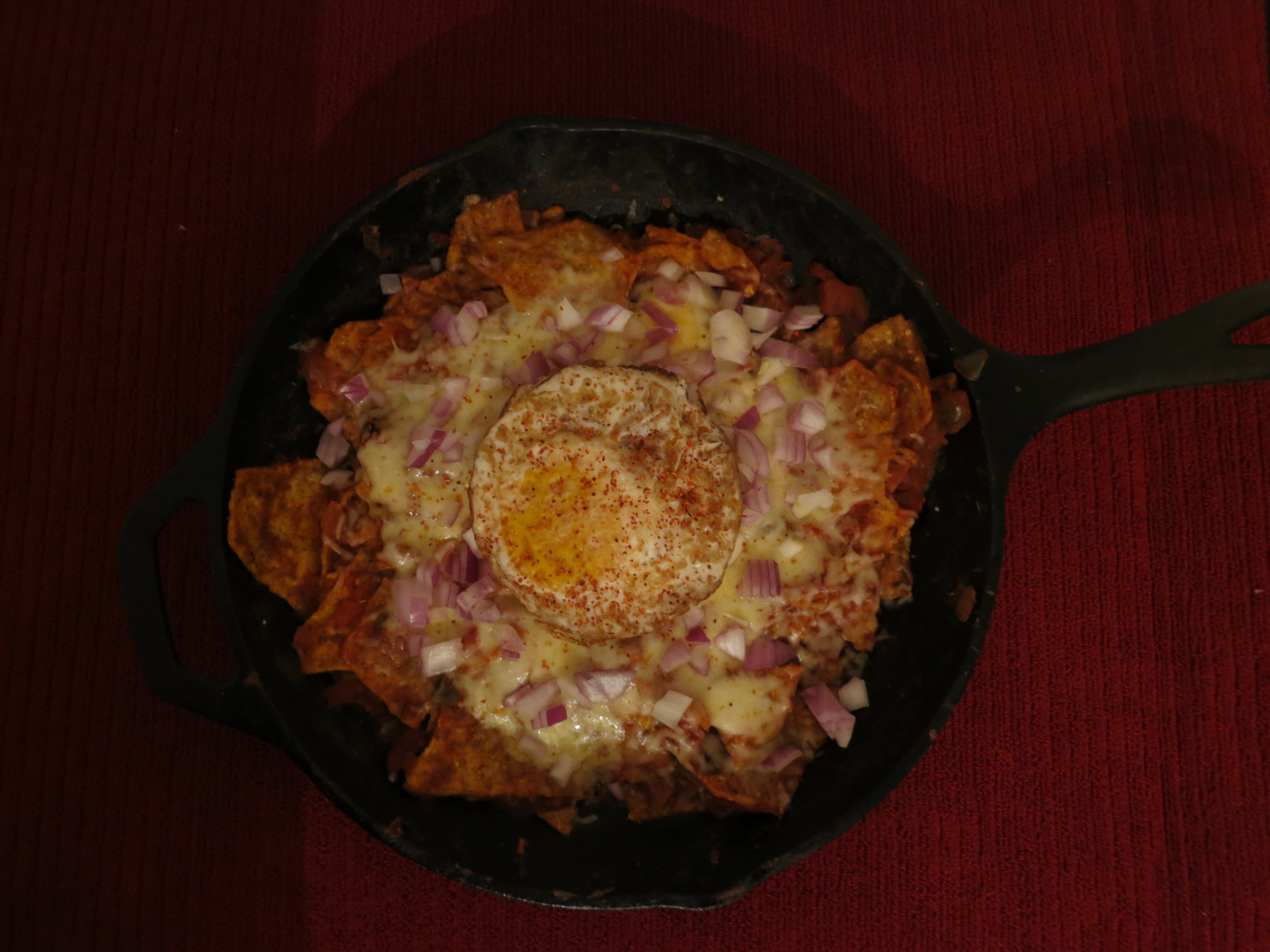 fried eggs chilaquiles with fried eggs real simple chilaquiles ...