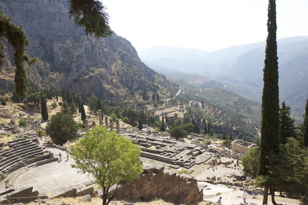 Archeological site at Delphi